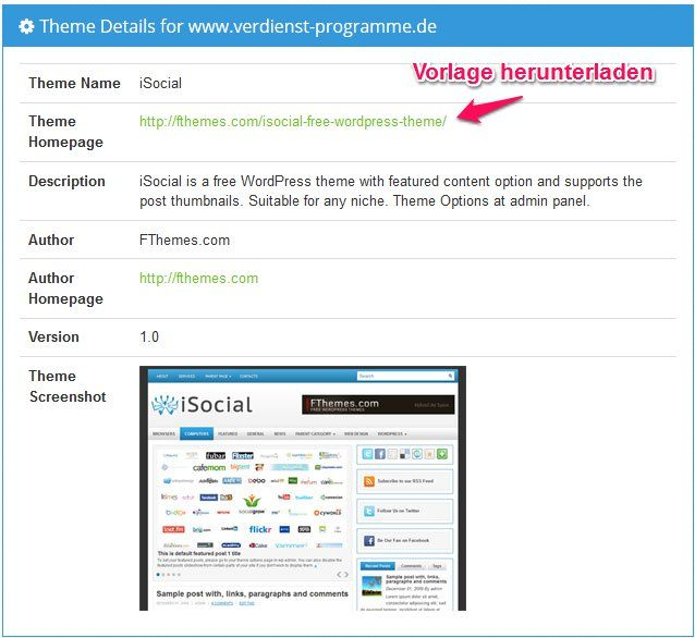 Wordpress Themes herausfinden